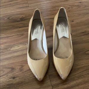 Michael Kors Patent Leather Nude Heels